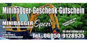 Gutschein für Minibagger verschenken - Für