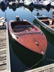 Mahagoni - Gondel Boot mit Bodenseezulassung