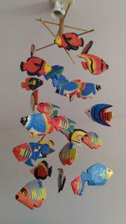 Mobile Fische aus Holz - NEU -