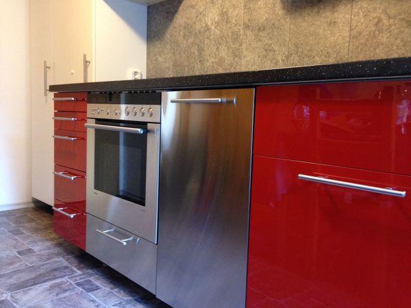 Rot Weiße Edelstahl Küche Ca