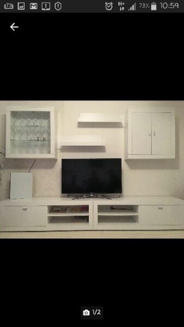 Superb Wohnwand/schrankwand Weiß » Wohnzimmerschränke, Anbauwände
