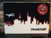 Eintracht Frankfurt Skyline Nagelbild