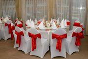 50 rote neue Stuhlschleifen Schleifen
