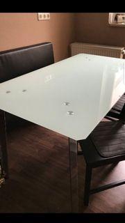 Tisch Milchglas sehr