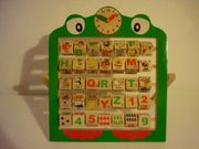 Lern ABC Holz Holzspielzeug Alphabet