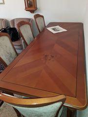 Esszimmer Esszimmertisch Stühle Kirschbaum Speisezimmer