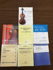 Violin Geigen Noten Technikübehefte