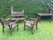 Garten Bank 2 Stühle Tisch