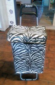 James - Einkaufstrolley Einkaufsbutler Einkaufsroller Zebra
