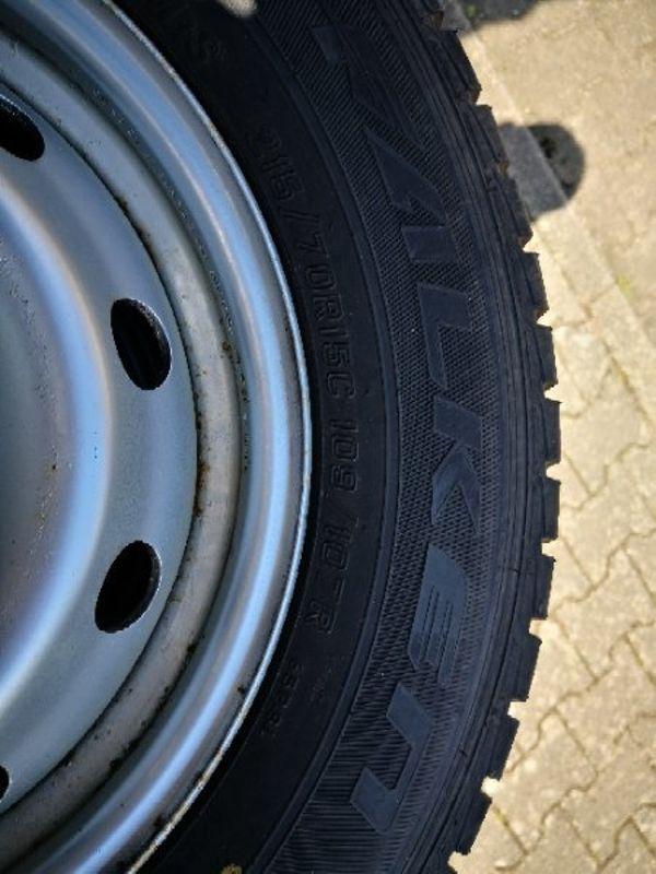 Fiat stahlfelgen mit Reifen - Elchesheim-illingen - Verkaufe hier stahlfelgen mit winterreifen Reifen haben noch 7 - 8mm Profil alter und Felgen seht ihr auf den Bildern - Elchesheim-illingen