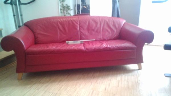 schönes Ledersofa 2, » Polster, Sessel, Couch