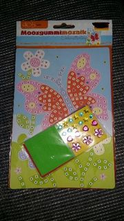 Moosgummi Mosaikbild Schmetterling,