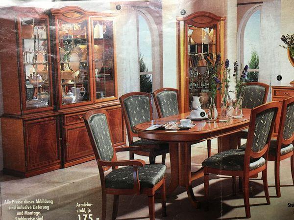 Komplett Mobel Italien Wohnzimmer Esszimmer Giotto Kirschbaum