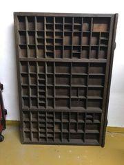 Setzkasten Echtholz Antiquität