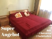 Schlafzimmer Bett + 2