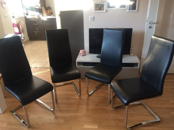 4 Freischwinger Esstisch Stuhle 25eur Pro Stuhl In Erding