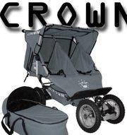geschwisterwagen zwillingswagen crown tt18 klappbar