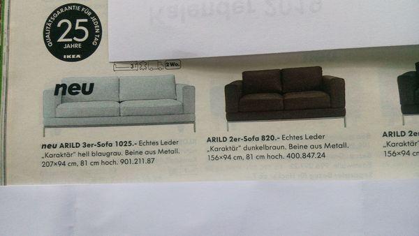 Ledersofas Ikea Arild 3 Er Und 2 Er Hellgrau In Hamburg Polster