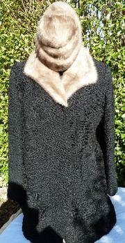 handgearbeitet Persianer Jacke mit Nerzkragen