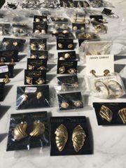 Modeschmuck Ohrringe neu 80 Stück