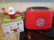 FC Bayern Toaster plus Eierbecher