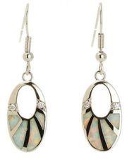 Ohrhänger mit synthetischen feuer opalen
