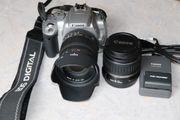 Spiegelreflexkamera Canon EOS 400D mit