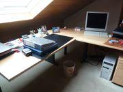Schreibtisch-Winkelkombination hochwertig