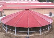 Longierhallen / Hufschlagüberdachung macht