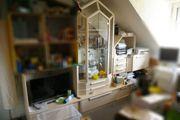 Wohnzimmerschrank 4-teilig helles Holz mit
