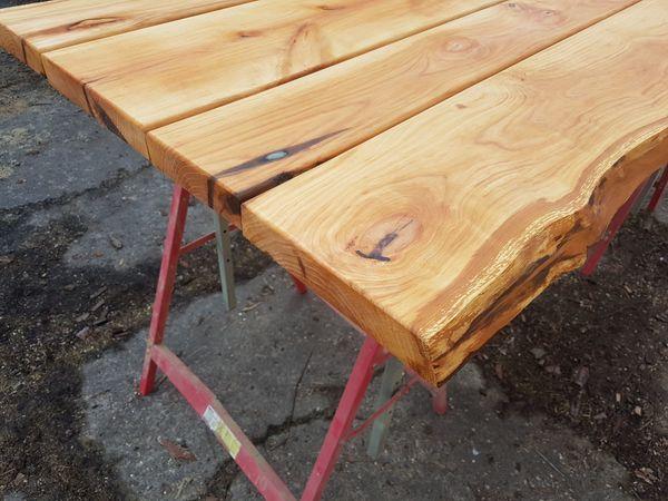 Tisch Tischplatte Esstisch Schreibtisch Massiv Echtholz Waldkante In