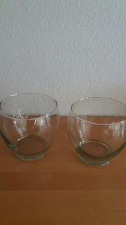2 Gläser für Adventdeko 12cm