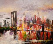 Gemälde New York Brooklyn Bridge