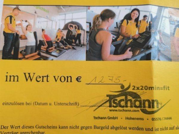 GUTSCHEIN für Fitness Studio Tschann
