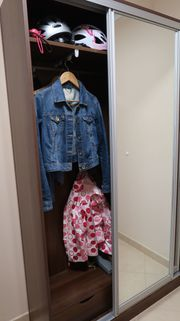Garderobe Kleiderschrank Schuhschrank 6 Klapptüren