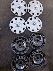 Stahlfelgen mit Radzierblenden für VW