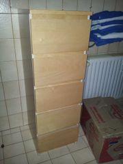 Schubladenschrank Schränkchen in heller Holzoptik -