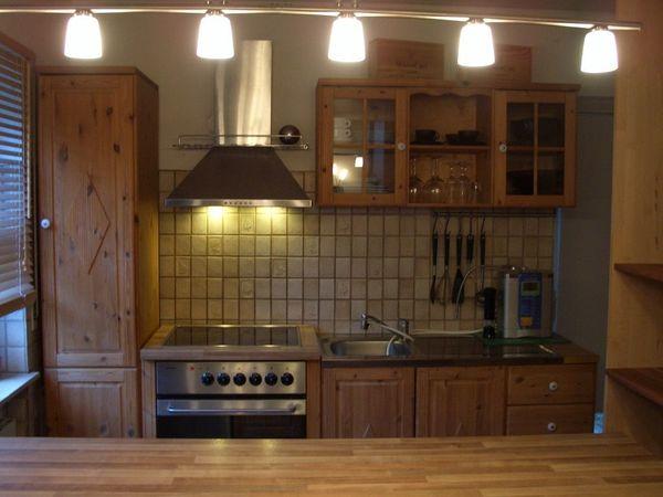 Küche Massivholz mit Geräten Hanseatic