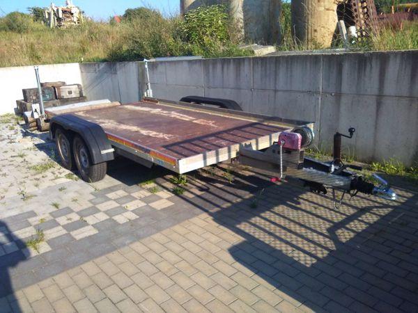 Autotransporter Anhänger Tandemanhänger Meyer WM AP 25 Minibagger - Hamburg St Georg - Innenmaße der Ladefläche4,00m x 1,85mAußenmaße laut Fahrzeugschein4,91m x 2,38m x 1,00mLeergewicht 489kg, zul. Gesamtgewicht 2000kgErstzulassung 16.11.2004Die Aluminium-Auffahrrampen sind unter der Ladefläche diebstahlsicher versta - Hamburg St Georg