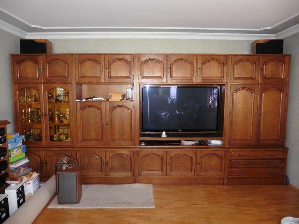 Wohnzimmer Und HIFI Schrank In Eiche Rustikal
