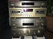 Stereoanlage DENON Gold mit Boxen