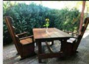 Gartentisch Vollholz mit 2 Stühlen