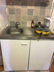 Singleküche mit kühlschrank weiß Singlekücheblock