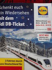 Bahnticket 2 Fahrten zu verkaufen
