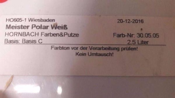 Wandfarbe Braun 30 05 05 Hornbach Angemischt 2 5 Liter In