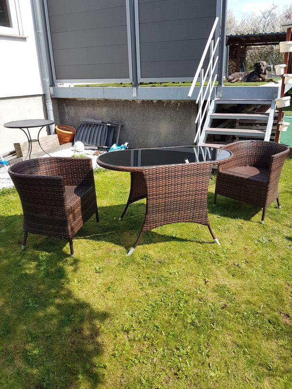 Gartentisch und 2 » Gartenmöbel