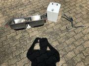 Doppelspülbecken Boiler und Niederdruckarmatur
