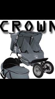 geschwisterwagen zwillingswagen crown klappbar angebot