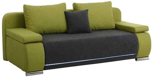 Neuwertige Schlafcouch Sofa Ausziehbar Grün