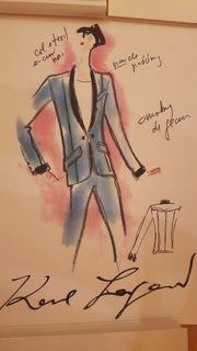 Karl Lagerfeld Bild mit Autogramm